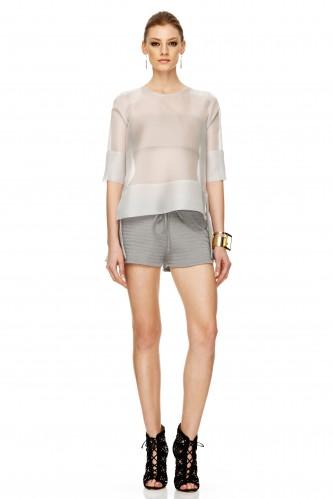 Grey Cotton Shorts - PNK Casual