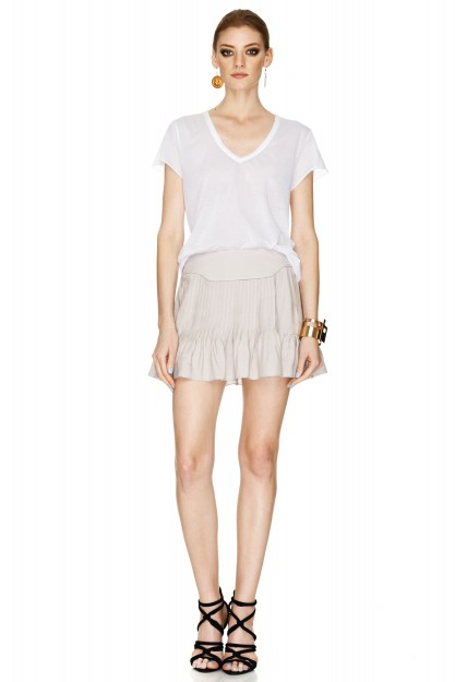 Light Grey Mini Skirt