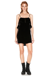 Black Silk Velvet Mini Dress