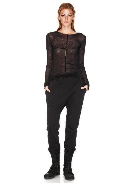 Black Soft Wool Sweater