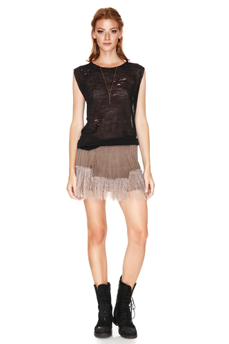 Black Hand-Distressed Top - PNK Casual