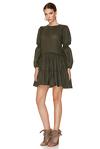 Kaki Wool Mini Dress