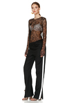 Black Delicate Lace Sheer Top