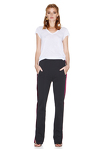 Black Pants With Velvet Side Detail