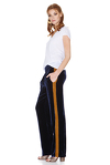 Bleumarine Velvet Pants With Side Detail