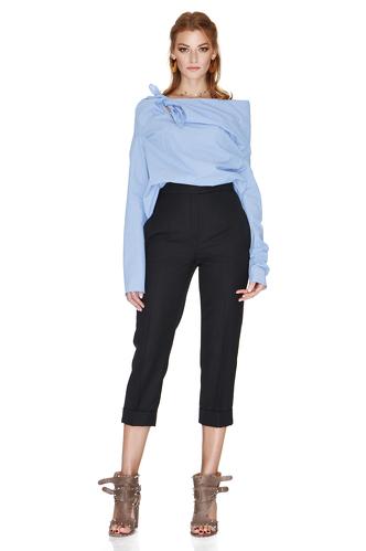 Black Straight-Leg Pants - PNK Casual