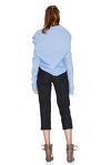 Blue Shirt With Asymmetric Collar