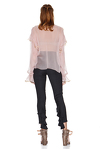 Rose Silk Chiffon Blouse