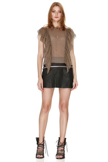 Light Brown Silk Top