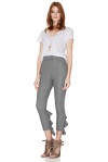 Grey Pants With Ruffles