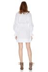 White Cotton Poplin Mini Dress