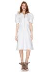 White Cotton Poplin Midi Dress