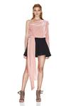 Pink Velvet One Shoulder Top
