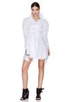White Wrap-Effect Mini Dress