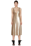 Gold Sequins Midi Dress With Silk Detailing