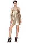 Gold Sequins Mini Dress
