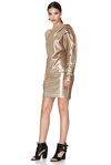 Gold Sequins One Shoulder Mini Dress