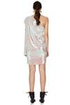 Multicolored Sequins One Shoulder Mini Dress