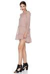 Pink Silk Chiffon Dress