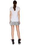 Silver Pleated Lamé Mini Skirt