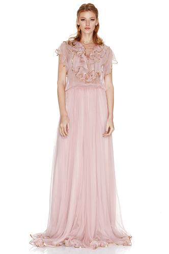 Rose Silk Chiffon Maxi Dress - PNK Casual