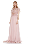 Rose Silk Chiffon Maxi Dress