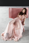 Rose Silk Chiffon Maxi Dress