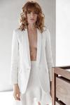 White Asymmetric Midi Skirt