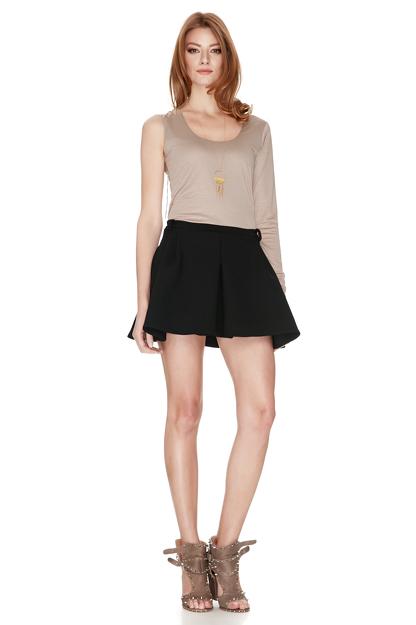 Beige one shoulder blouse