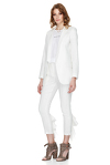 White Pants With Ruffles