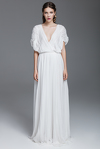 White Silk Tulle Long Dress