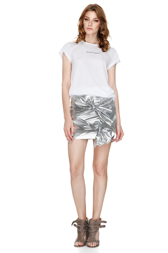 Doll Metallic Cotton Mini Skirt - PNK Casual