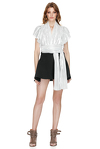 White Pleated Lame Top