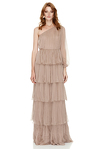 Beige Silk Long Dress