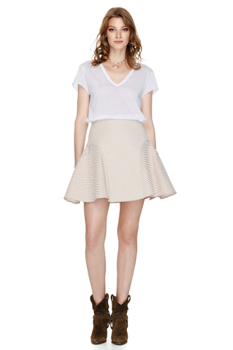 Beige-Pink Mini Skirt - PNK Casual