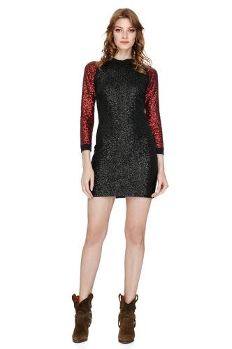 Black Sequins Mini Dress - PNK Casual