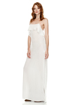 White Velvet Maxi Dress