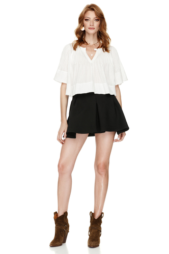 White Cotton Blouse - PNK Casual