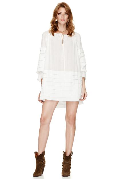 White Mini Boho Dress