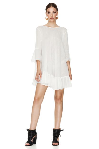 White Backless Mini Dress
