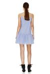 Blue-Striped Mini Dress With Straps