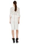 White Floral Lace Slim Midi Dress
