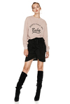 Beige Printed Sweatshirt