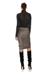 Brown Wool Ruffled Skirt
