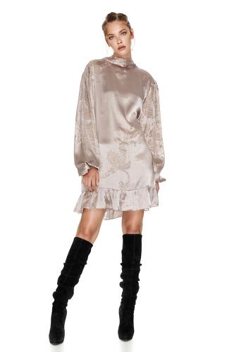 Backless Silk Mini Dress - PNK Casual