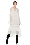 White Silk Chiffon Midi Dress