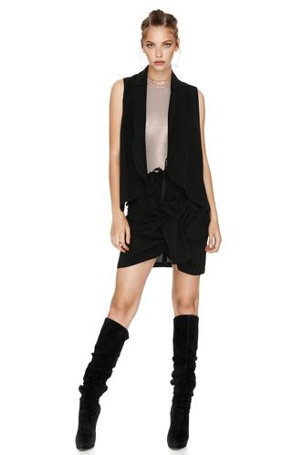 Black Wool Vest - PNK Casual