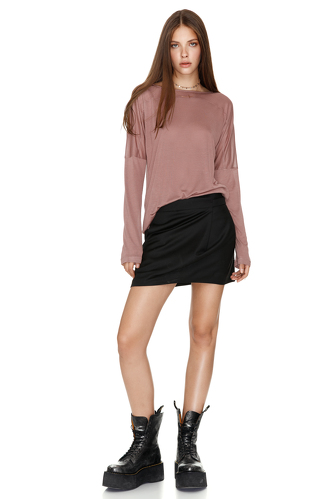 Jersey Dusty Pink Blouse - PNK Casual