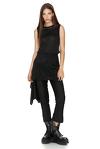 Black Wool Skirt Layered Pants
