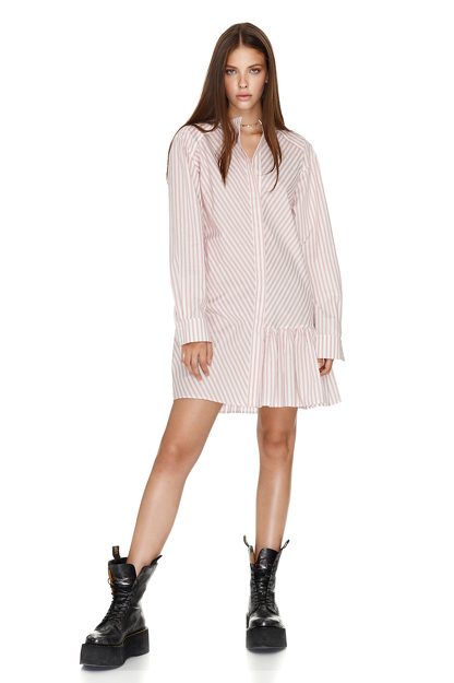 Cotton Asymmetric Mini Dress